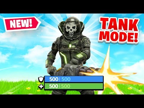 *NEW* TANK MODE in Fortnite Battle Royale