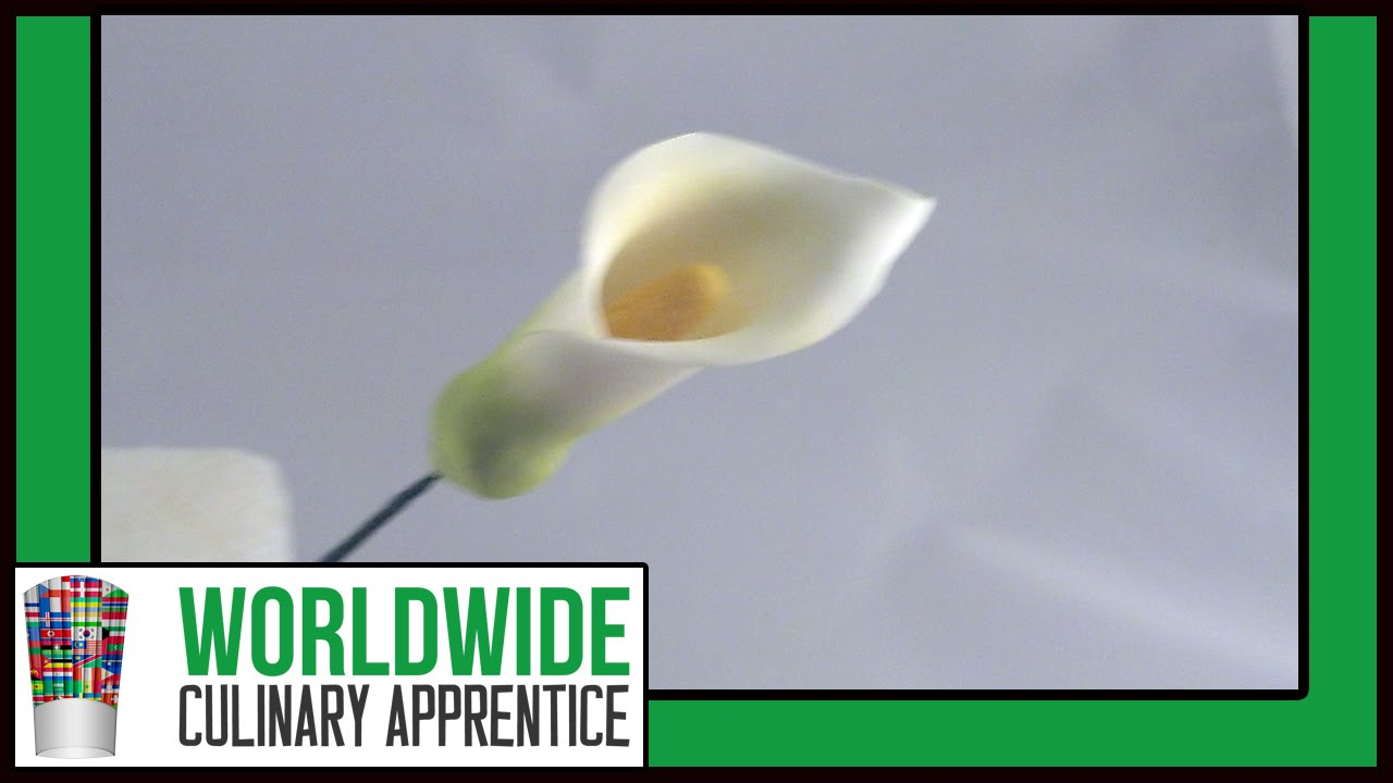 Sugar Gum Paste Flowers How To Make Sugar Paste Calla Lilies Cake
