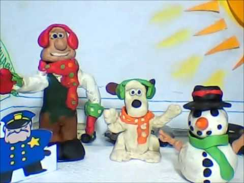 Wallace and Gromit- Christmas Winter Wonderland Claymation - YouTube