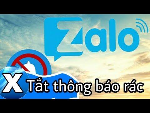 Cách tắt thông báo rác gây phiền toái trên Zalo.