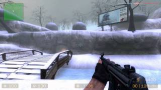 Counter-Strike Source Gameplay DM MP5 map - de_survivor Valve Gift Grab 2011