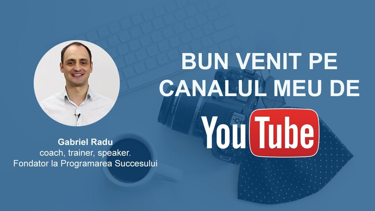 Aboneaza-te la canalul de Youtube - Dezvoltare personala si profesionala