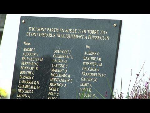 Puisseguin: hommage aux victimes, un an après