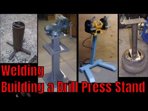 Building a Heavy Duty Stationary / Mobile Drill Press Stand