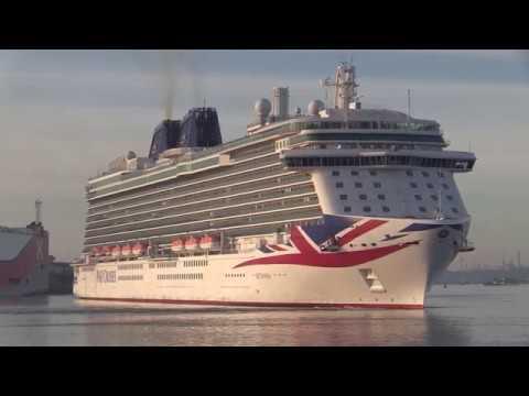Five Cruise Ship Arrival Gathering In Southampton Docks 01/06/19