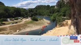 Snapvideo: Mens jeg venter på Tour de France i Ardeche  Vallon Pont d´Arc  2016