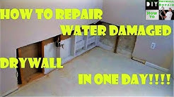 How to repair water damaged drywall in one day!!