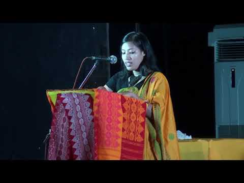 Ms. Kavita Saiba addresses during the 2nd Rongjali Bwisagu Celebration of MBS 2018