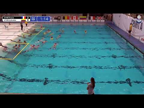 Game 195  (COL vs FRA U19W) ENGLISH- 5th CMAS Underwater Hockey Age Group Worlds - Sheffield, UK