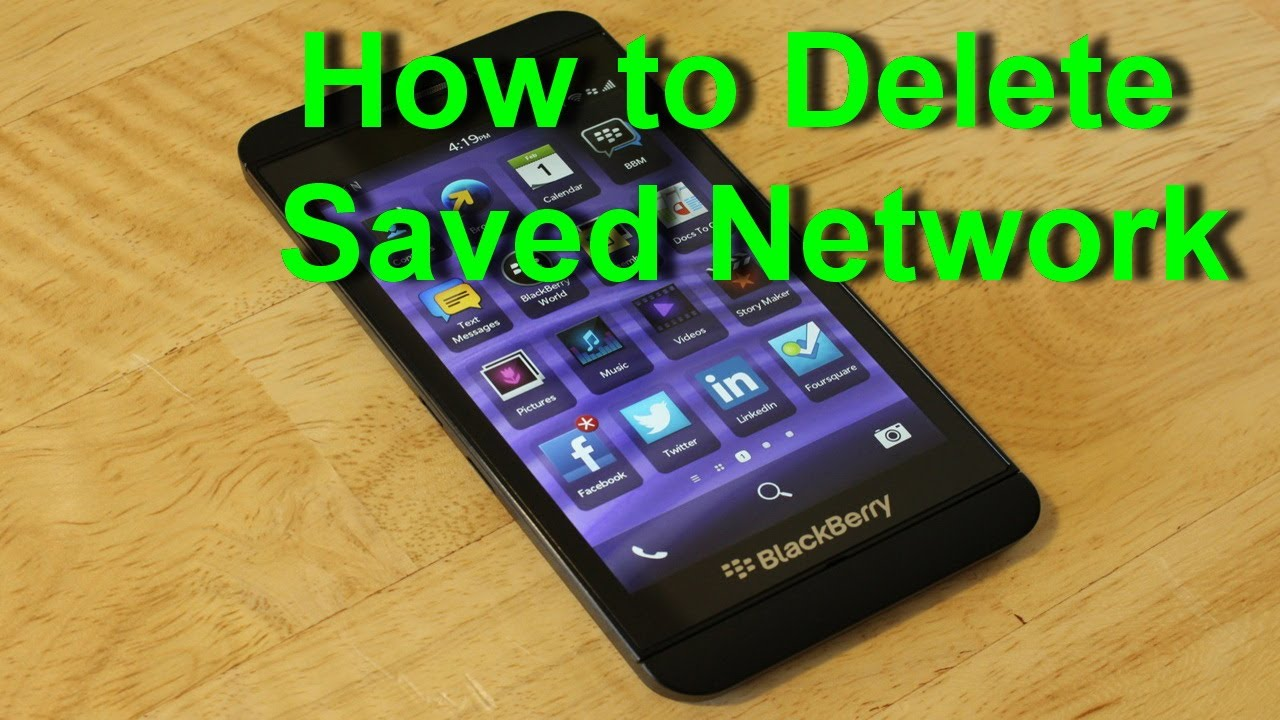 Blackberry Z10  How To Delete Savedwork