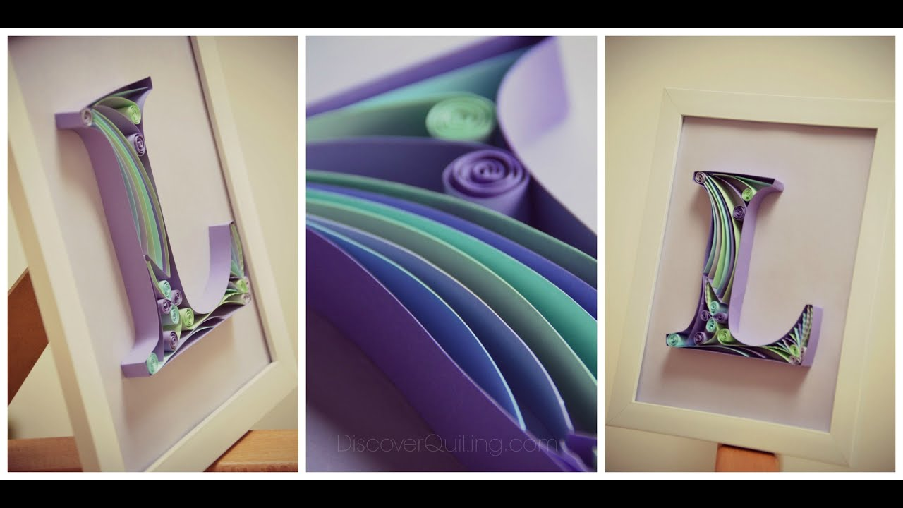 Diy paper quilling letter tutorial part 1 youtube altavistaventures Images