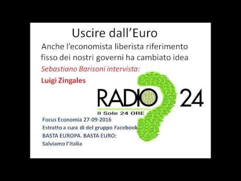 Uscire dall' Euro é indispensabile - Anche l'ultimo economista eurista si é convinto