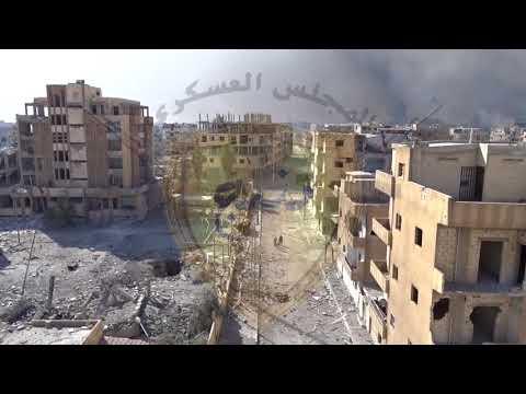 مشاهد من انقاذ المدنيين في احياء الرقة من قبل قوات مجلس منبج العسكري 17 10 2017