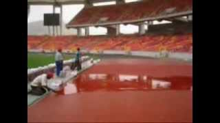 Abuja National Stadium installation of the synthetic running track in Nigeria 2003