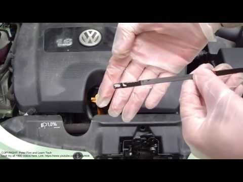 How to do VW Beetle new engine oil check and add years 1997 to 2011