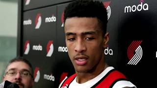 Portland trail blazers nba predraft workout: john collins, wake forest