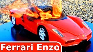 Ferrari Enzo on Fire!!! Its Burning! Its Just a DieCast Model Toy Car