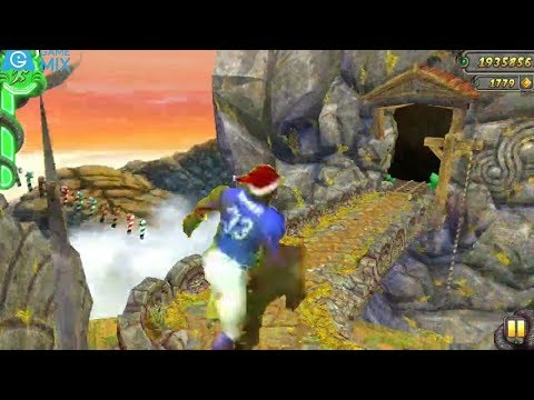 iGameMix😀TEMPLE RUN 2 Fullscreen☑️ZACK WONDER Santa Hat Sky Summit*Gameplay For Kid#382