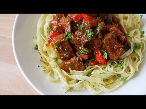 Beef Goulash with Bell Peppers (Recipe) || [ENG SUBS]