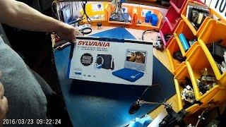 Curtis Sylvania SDVD7060-Combo-Blue 7-Inch Portable DVD Player Bundle