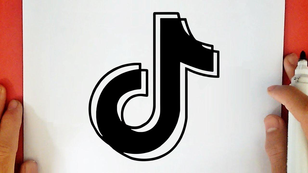 Como Dibujar El Logo De Tik Tok Youtube
