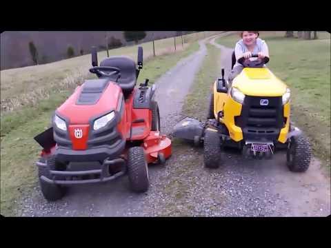 Husqvarna Gt52xls Garden Tractor Vs Cub Cadet Xt1 Lawn