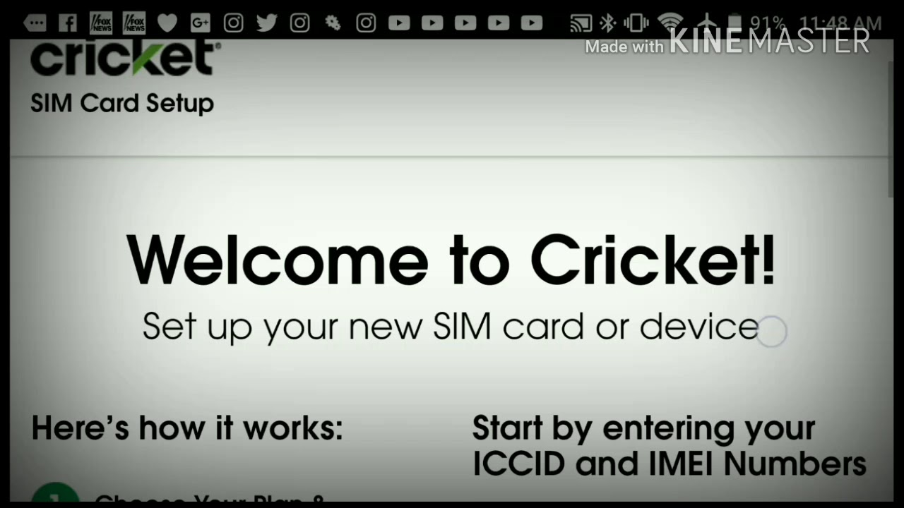 Cricket Wireless Customer Service - How to activate any cricket wireless phone or byod from home save 25 step by step tutorial mtr