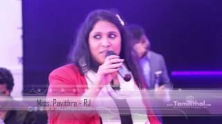 RJ Pavithra at SaathanaiThamizha Launching+PressMeet Event