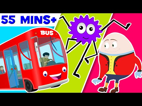 The Wheels on the bus | Five little monkeys | nursery rhymes | wheels on bus childrens songs