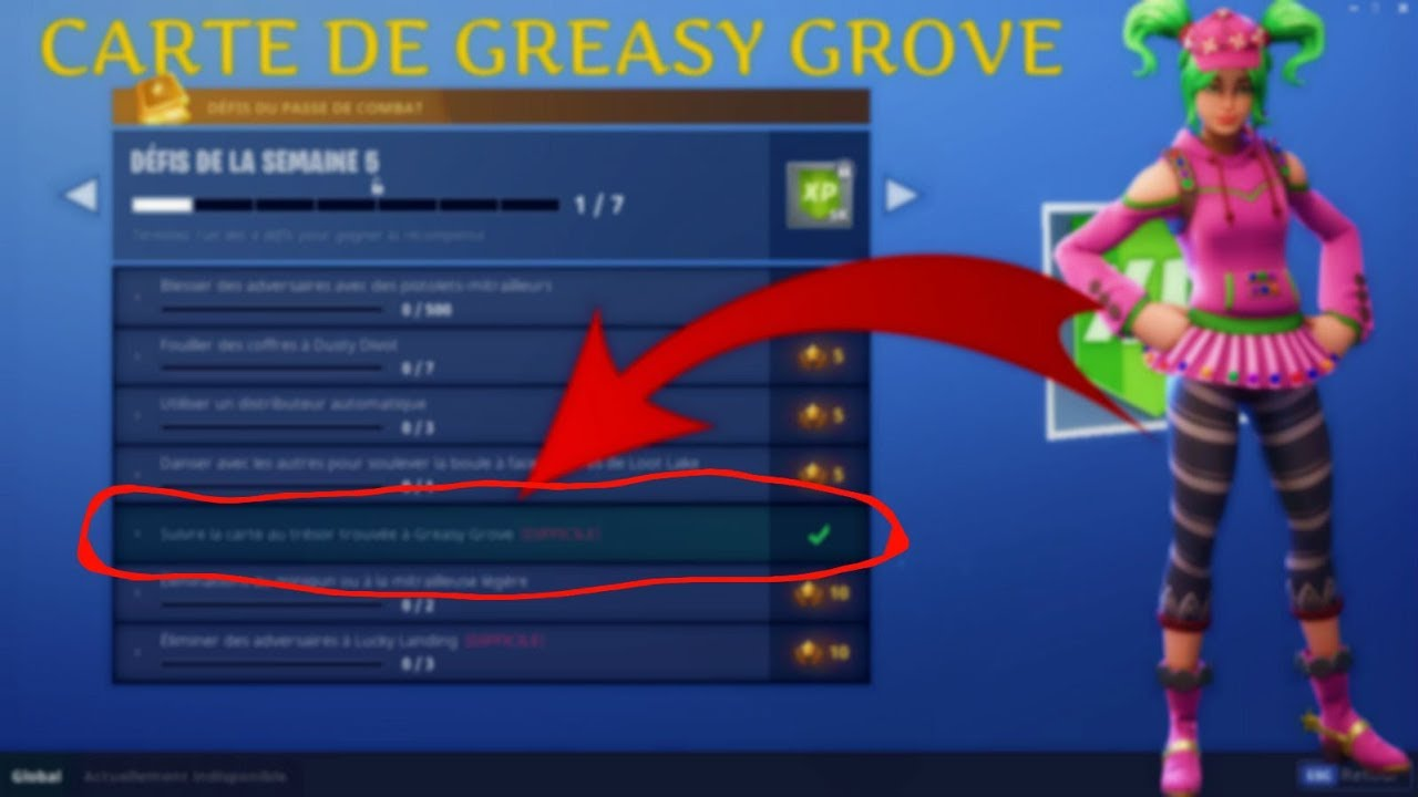 suivre la carte au tresor greasy grove SUIVRE LA CARTE AU TRESOR DE GREASY GROVE (DEFI DE LA SEMAINE 5