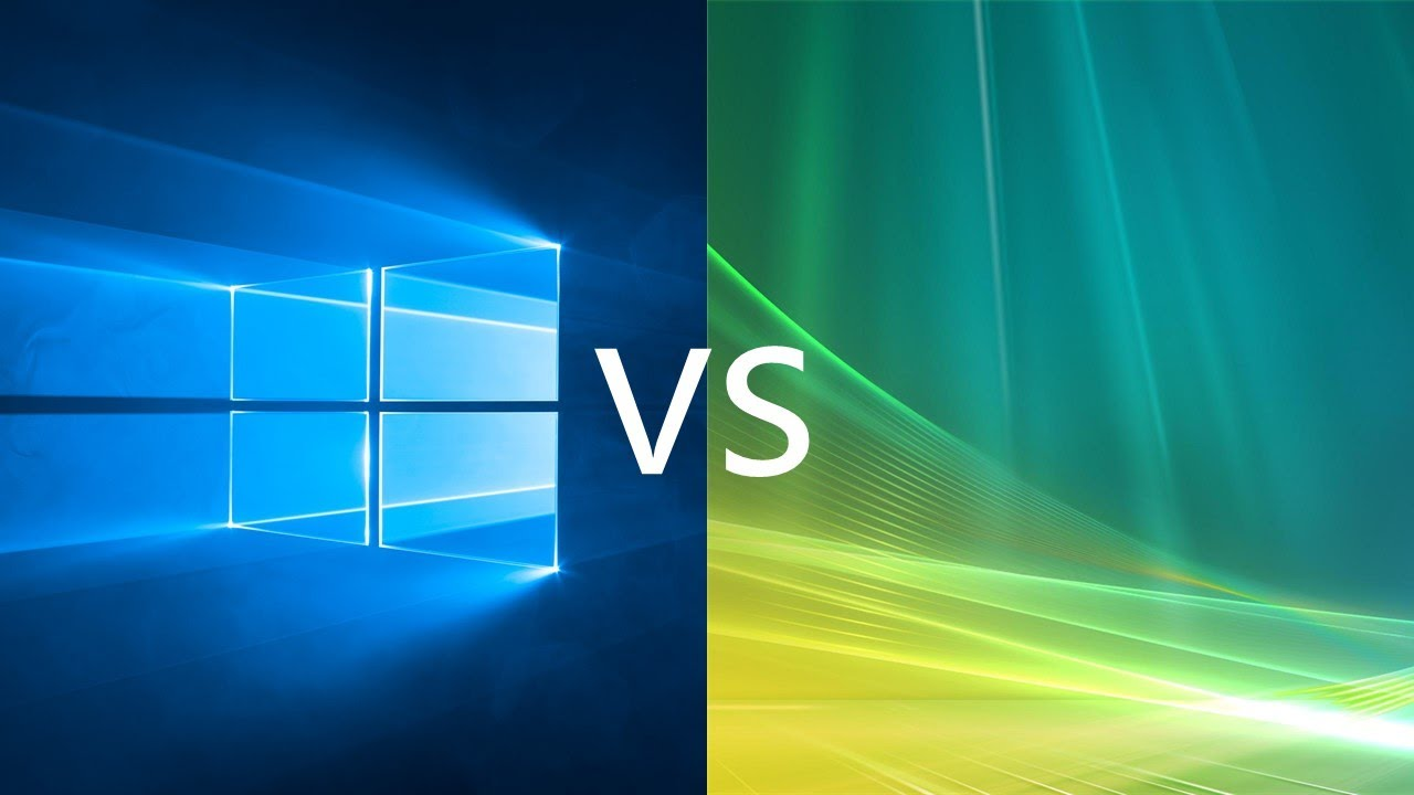 Comparing Windows 10 to Windows Vista