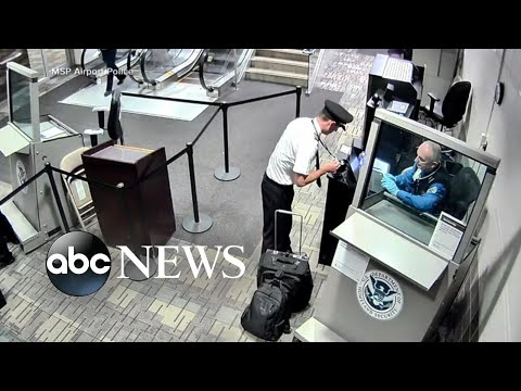 New video shows allegedly intoxicated pilot trying to board plane l ABC News
