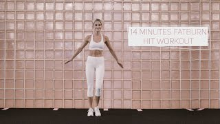 14 MINUTES FAT BURN HIIT FULL BODY WORKOUT | no equipment | Caro Daur #DAURPOWER