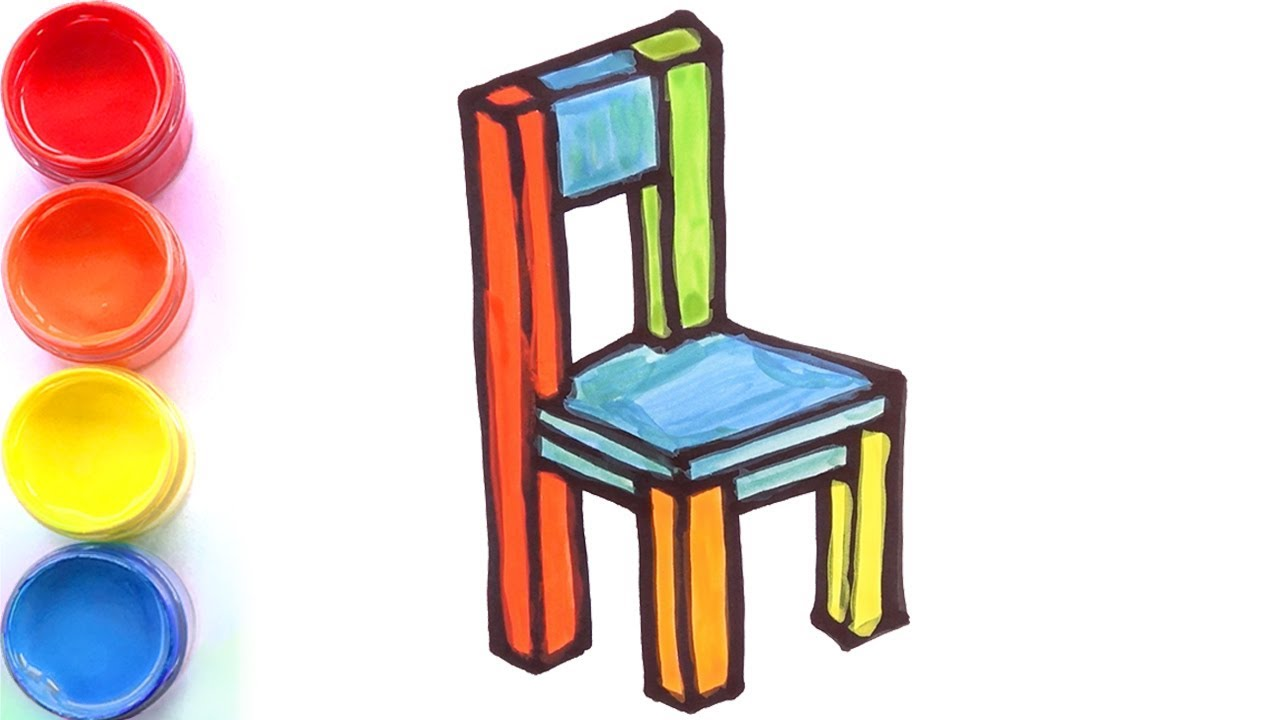 3D Chair drawing and coloring for kids, toddlers | Tom Toy Art ㋡