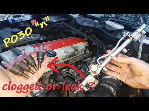 Mercedes W203 Fuel Injectors Replacement / How To Test Them C200  C180  C230