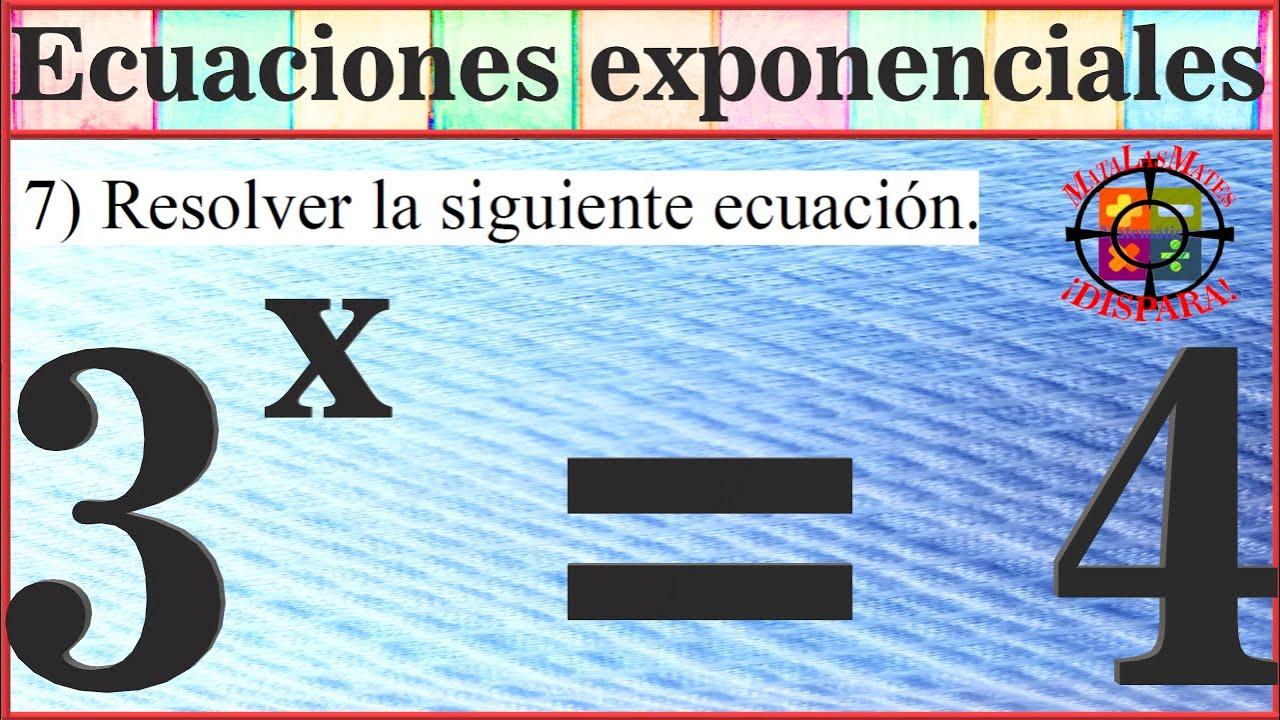 Ecuación Exponencial Prueba Acceso Grado Superior 2016 Canarias