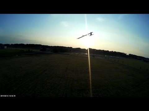 The maiden flight of the final RC solar plane