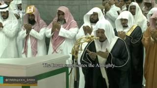 أول دعاء للشيخ صلاح باعثمان في الحرم ليلة 19 رمضان 1437