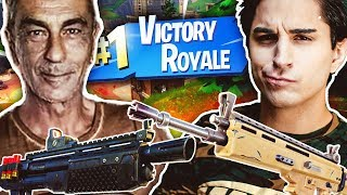 GAME WITH MY PADRE TO FORTNITE!! INCREDIBLE REAL VICTORY!