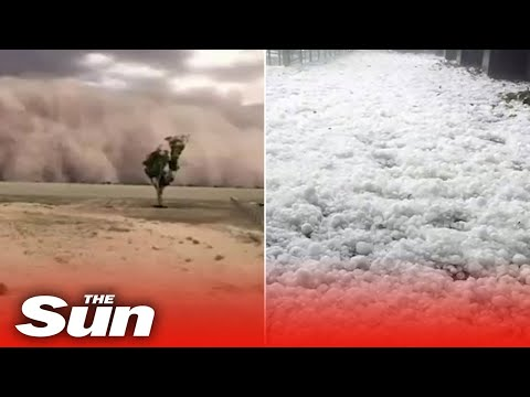 Australia Weather: Freak Hailstorms And Monster Dust Clouds Sweep East Coast