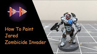 Zombicide Invader : Painting Guide Ep.2 - Jared ( How to Paint ) Painted in 60 Min