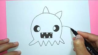 How to Draw Cartoon Bacteria - For Kids