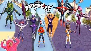 All Boss Miraculous Ladybug & Cat Noir Gameplay Crazy Lab Ladybug Run gameplay