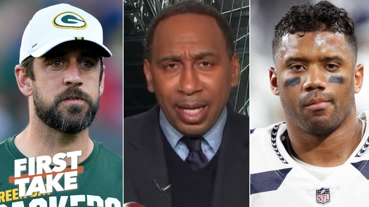 Stephen A. picks that 'baaad man' Aaron Rodgers over Russell Wilson in the NFC | First Take