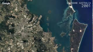 Google earth timelapse: brisbane, australia