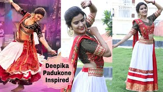 Deepika Padukone Inspired NAVRATRI Look | Outfit+ Makeup+ Hairstyle | Super Style Tips