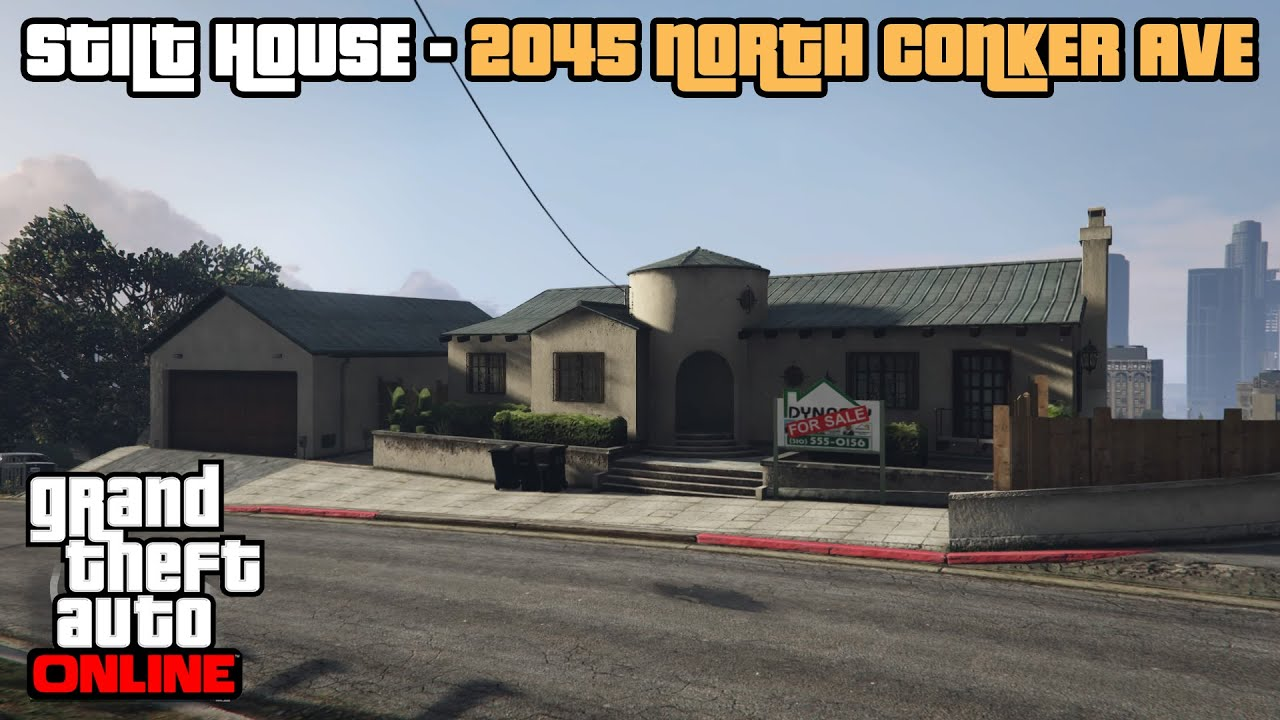 Gta 5 Online Ps4 Stilt House 2045 North Conker Ave Tour Youtube