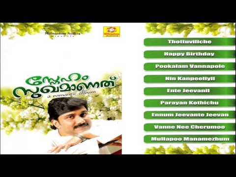 Sneham Sugamanathu Vol -1 | Romantic Album | Malayalam