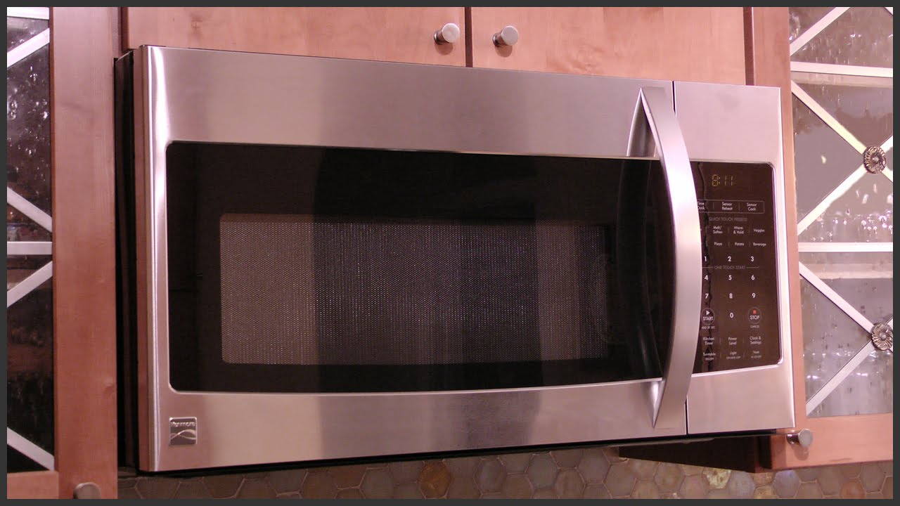 Over The Range Microwave Replacement Youtube