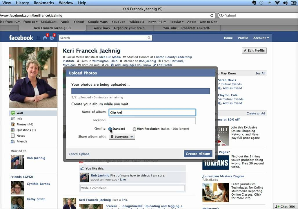 How to Upload a Photo Album to Facebook